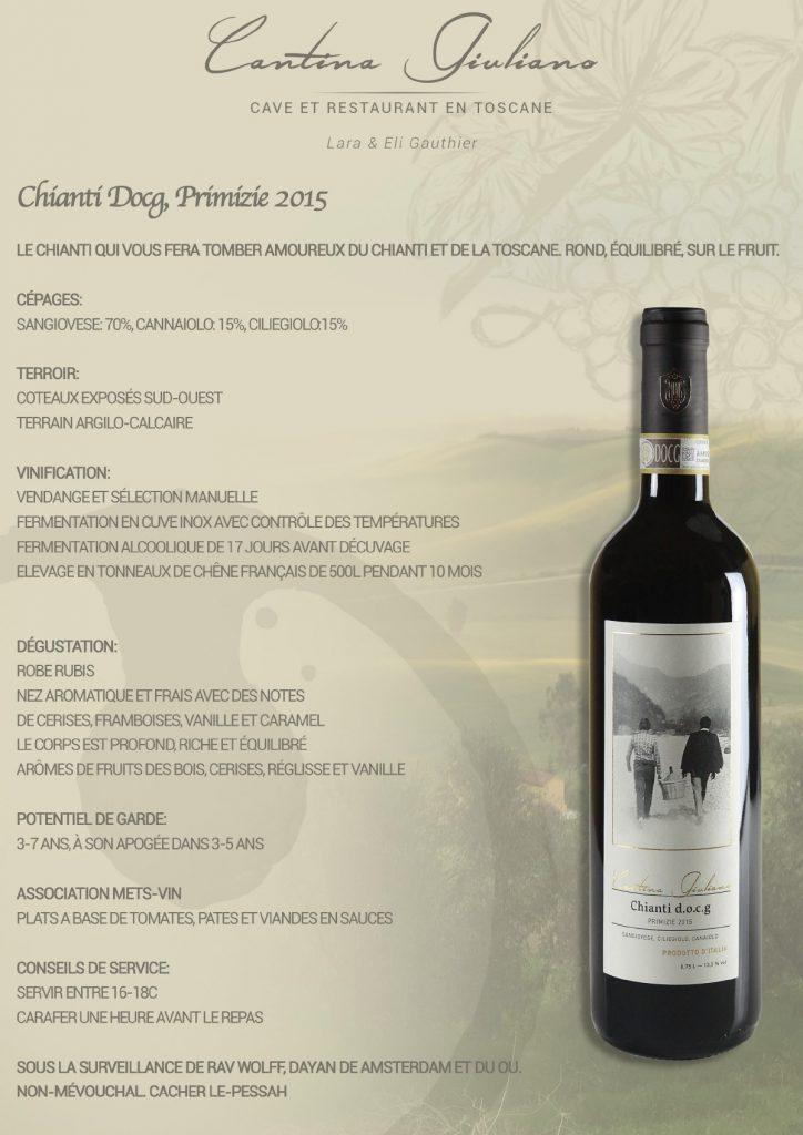 Vin casher Toscane