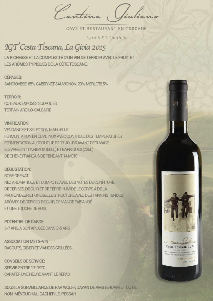 Vin cacher Toscane